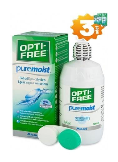 Opti – Free PM Opti Free 3 'lü Pure Moist Lens Solüsyonu 300 ml Renksiz